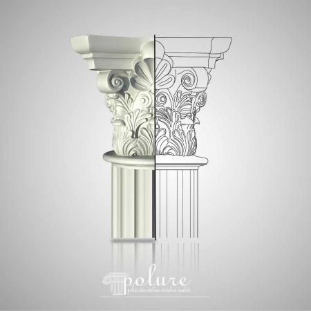 Coloane si Capitel Coloane Decorative din Poliuretan